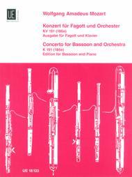 Bassoon Concerto, K. 191, Bsn/