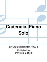 Cadencia, Piano Solo
