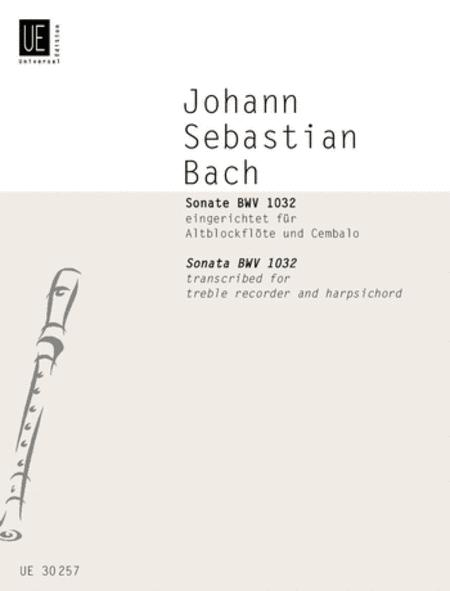 Sonata, BWV 1032, Treble Rcdr/H