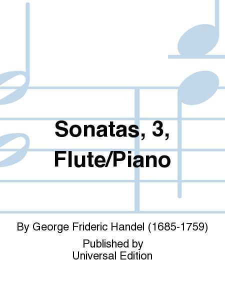 Sonatas, 3, Flute/Piano
