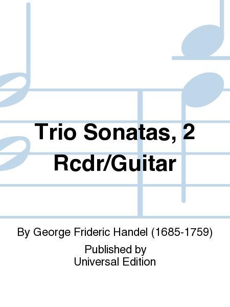 Trio Sonatas, 2 Rcdr/Guitar