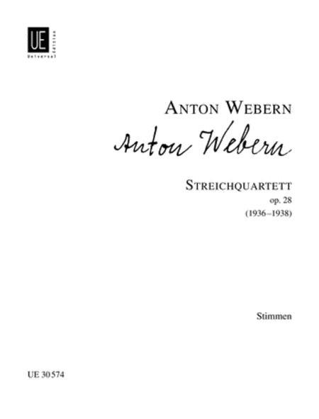 String Quartet, Op. 28, Parts