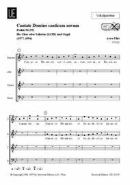 Cantate Domino, SATB/Org, Chor