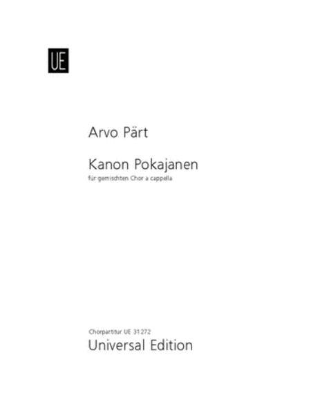 Kanon Pokajanen, SATB, Full Score
