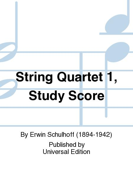 String Quartet 1, Study Score