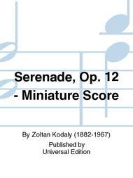 Serenade, Op. 12 - Miniature Score