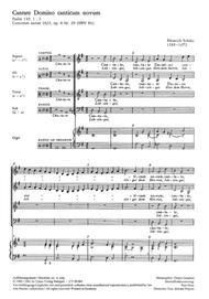 Cantate Domino (Singet dem Herrn)