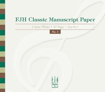FJH Classic Manuscript Paper No. 1