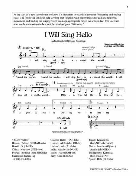 Friendship Family FREE Sheet Music Notes Preview & Download