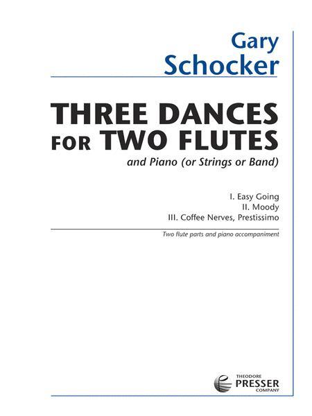 3 Dances for 2 Flutes & Piano