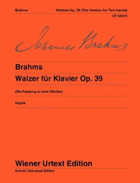 Waltzes for Piano, Op. 39, Urtext (piano, 2-hands)