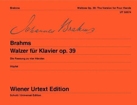 Waltzes for Piano, Op. 39, Urtext (piano, 4-hands)
