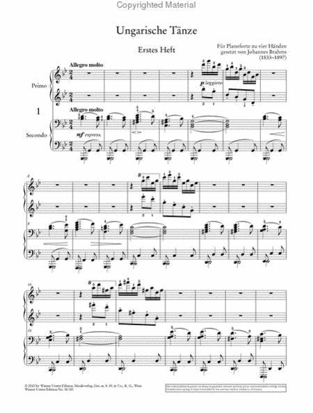 Hungarian Dances for Piano Four-hands  Piano 4 Hands Johannes Brahms Book Only