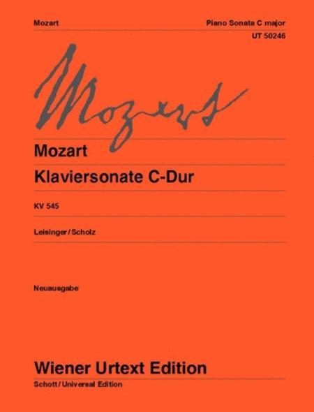 Piano Sonata in C major, K 545