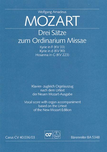Drei Satze zum Ordinarium Missae