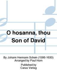 O hosanna, thou Son of David (Hosianna dem Sohne Davids)