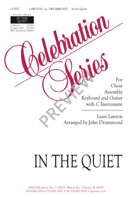 In The Quiet Sheet Music By Liam Lawton - Sheet Music Plus