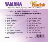 Sunset Boulevard - World Premier Recording (2-Disc Set) - Piano Software