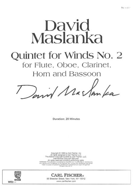 Quintet For Winds No. 2