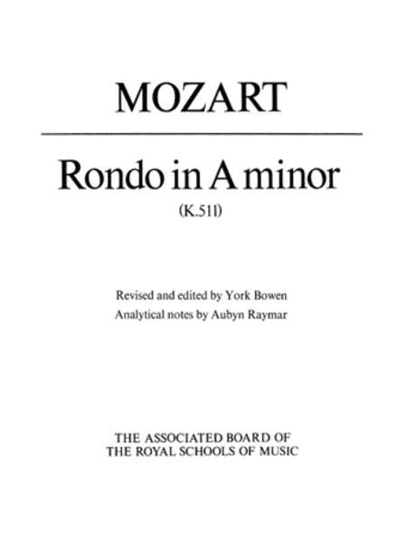 Rondo in A Minor K511