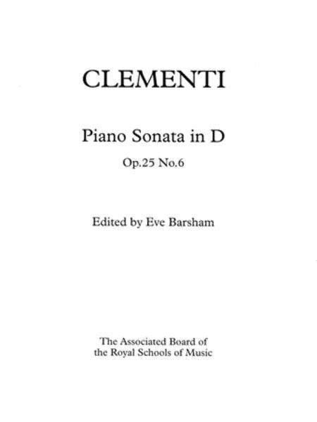 Sonata in D, Op. 25 No. 6