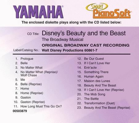 Disney's Beauty and the Beast - Broadway Cast Recording - Piano Software