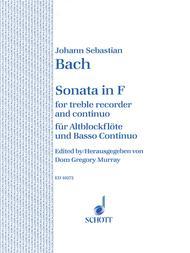 Sonata in F BWV 1035