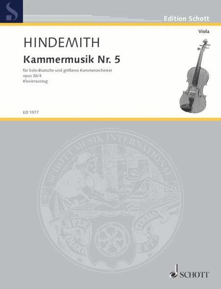 Chamber music No.5 op. 36/4