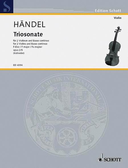 Nine Trio Sonatas op. 2 Nr. 5