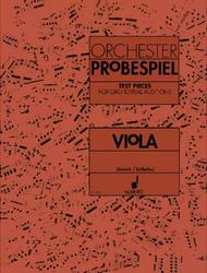 Test Pieces for Orchestral Auditions - Viola