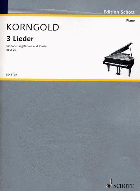 3 Songs Op. 22