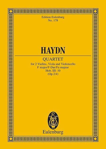String Quartet F major op. 2/4 Hob. III: 10