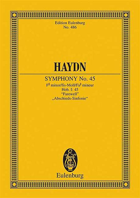 Symphony No. 45 In F# Minor Hob. I: 45