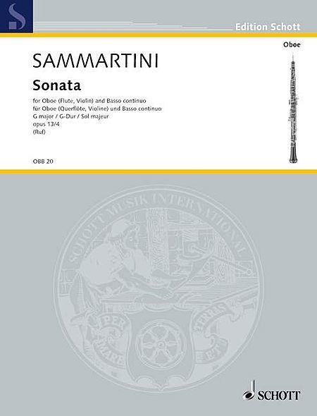Sonata in G major op. 13/4