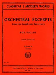Orchestral Excerpts from the Symphonic Repertoire - Volume 3 (revised)