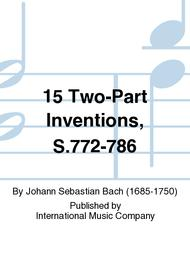 15 Two-Part Inventions, S.772-786