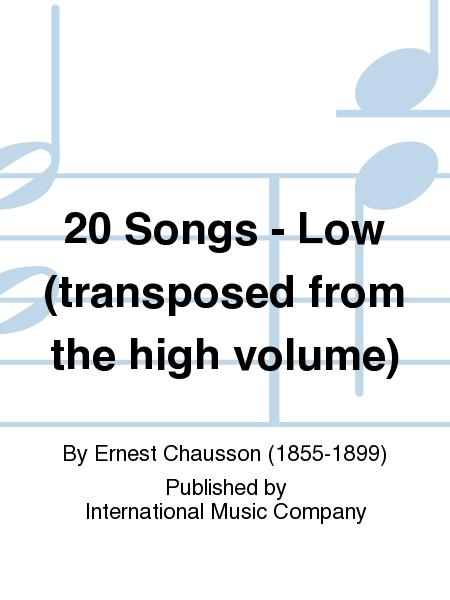 20 Songs - Low (transposed from the high volume)