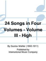 24 Songs in Four Volumes - Volume III - High