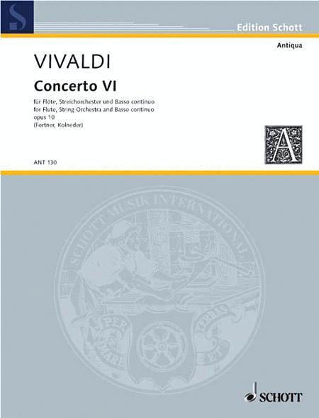Concerto No. 6 op. 10/6 RV 437/PV 105