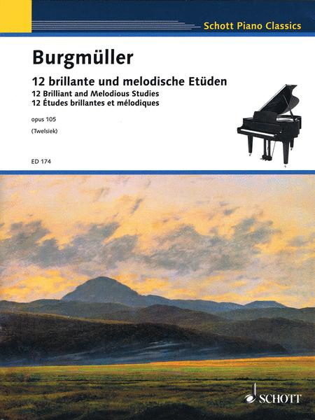 12 Brilliant And Melodious Studies Op. 105