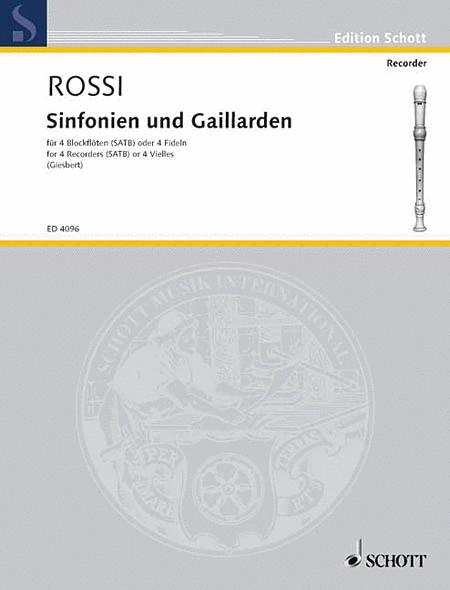 Sinfonias and Galliards