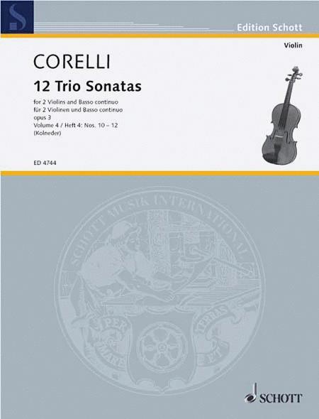 Twelve Triosonatas op. 3 Band 4