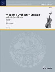 Moderne Orchester-Studien fur Violine Band 1