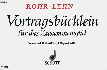 Vortragsbuchlein fur das Zusammenspiel (Instruction Book for Ensemble)