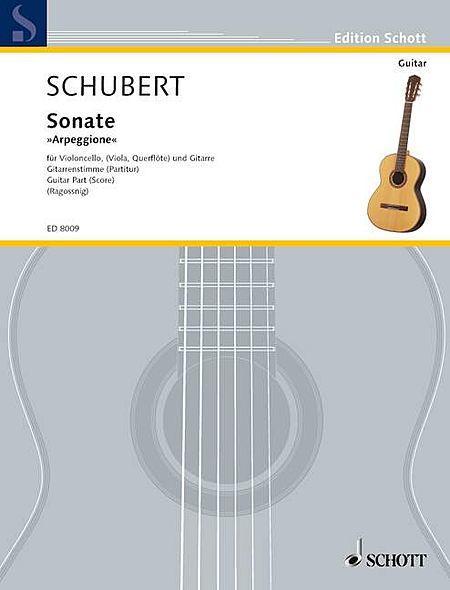 Sonate Arpeggione in A Minor, D 821 - Score