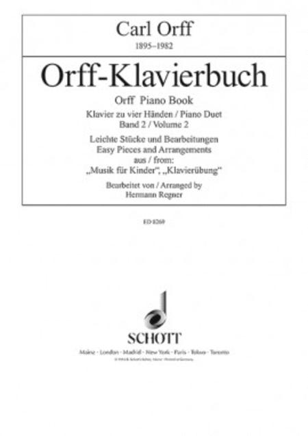 Orff Piano Duet Book Volume 2