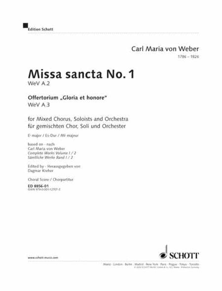 Missa sancta No.1 Eb major WeV A.2 / WeV A.3