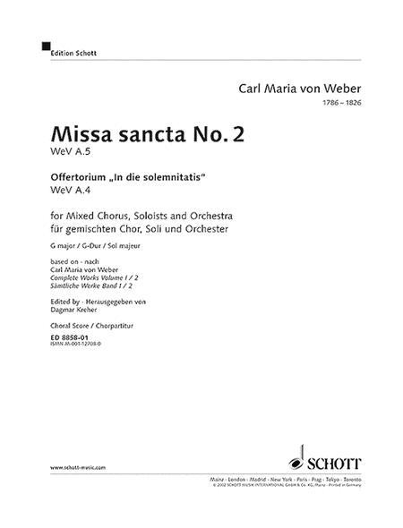 Missa sancta No. 2 G major WeV A.5 / WeV A.4