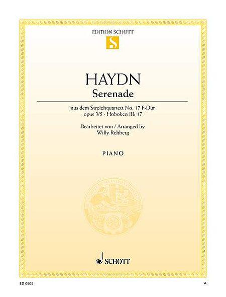 Serenade for String Quartet in F Major, Op. 3, No. 5, Hob 3:17