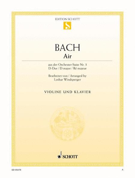 Air from the Orchestral Suite No. 3 in D, BWV 1068